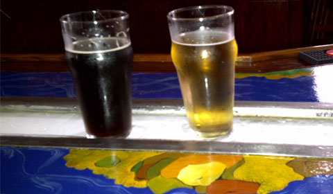 Hevy Kevy Scotch Ale and Flashlite Lager