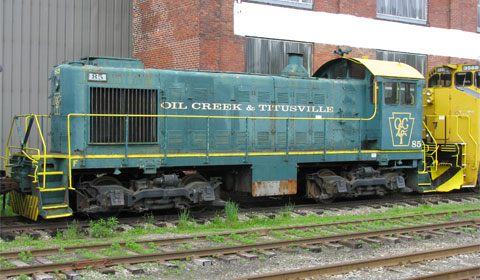 An old, retired engine from the OC&T line