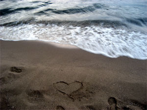 My heart in the sand
