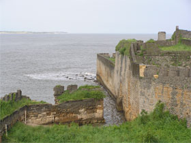 View from the ramparts of the Old Portuguese fort