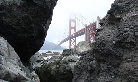 I felt like an adventurer—a picture at the foot of the Golden Gate Bridge my prize.