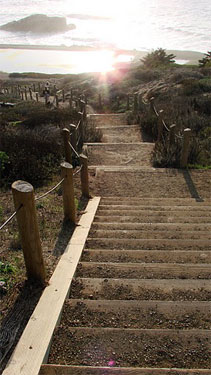 Steps to Mile Rock Beach