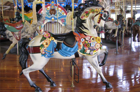 The carousel horse in Mansfield that blew me away with its beauty