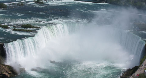 The volume of water crashing over Horseshoe Falls is mesmerizing. Brian took this shot from the viewing deck of Skylon Tower.