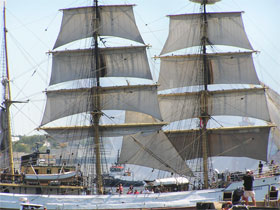 Starting day of the tall ships race