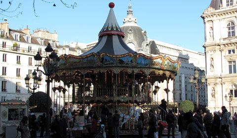 Carousel in Place de Hotel de Ville, Paris