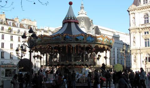 Carousel in Place de Hotel de Ville, Paris