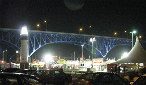 The Rib Fest after dark