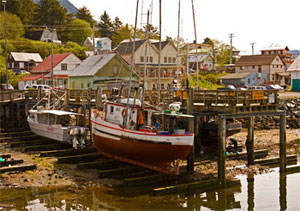The waterfront, Sitka, Alaska