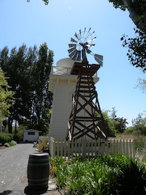 The water tank and donated windmill