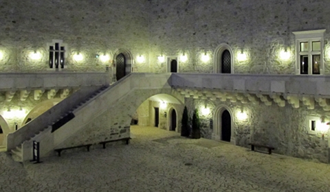 An evening glimpse at the inner courtyard