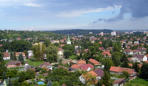 A view of Misckolc city from the looking-tower