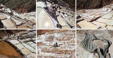 The salt ponds from different angles.