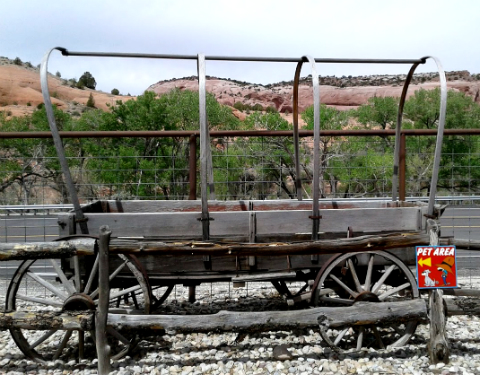 Antique wagon train, Hole in the Rock, Utah