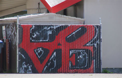 Love graffiti near Humboldt State University