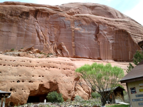 The back of the Entrada Sandstone, Hole in the Rock, Utah