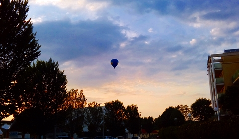 Hot air ballooning offered by the airport