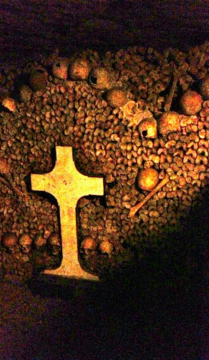 Bone designs in the Catacombs of Paris