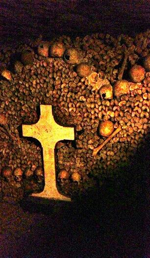 Bone designs in the Catacombs of Paris