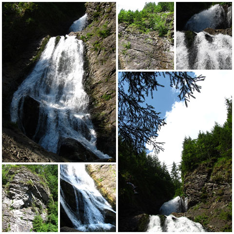 Bridal Veil Waterfall collage