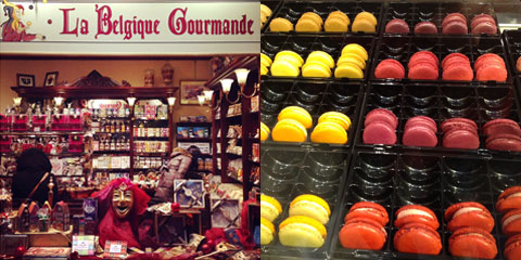 Chocolates and macarons in Brussels