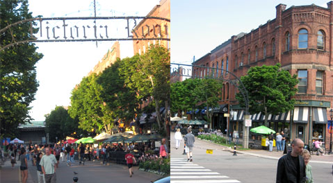 Victoria Row, restaurants, nightlife and shopping in historic downtown Charlottetown