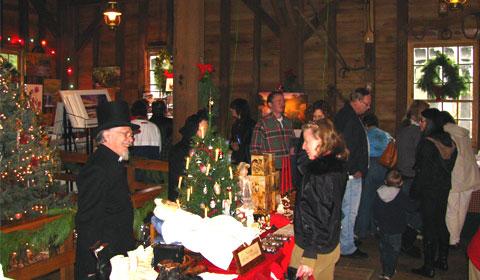 Browsing the Christmas stalls