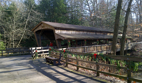 Covered bridge over Mill Creek