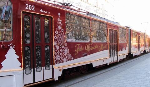 The Christmas tram