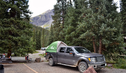 Camping in South Mineral Creek