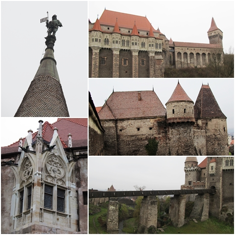 Corvin Castle seen from different angles