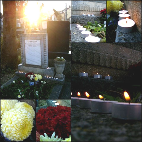 Grave site in Kismező Cemetery