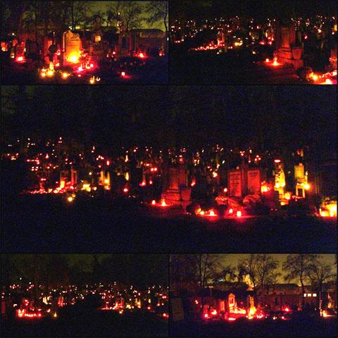After nightfall in Házsongárdi Cemetery