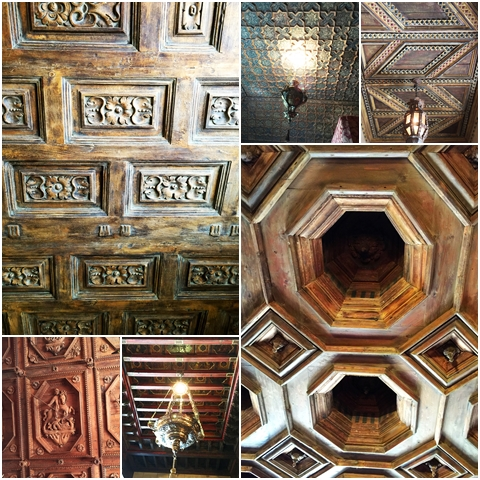 Details in the ceilings of Hearst Castle