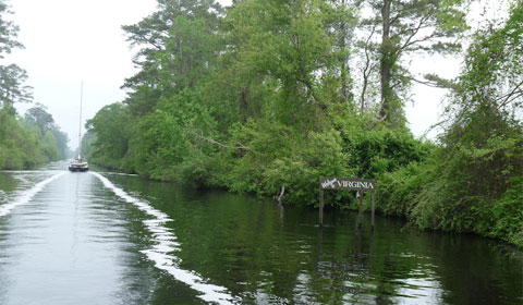 Our view, going through Dismal Swamp