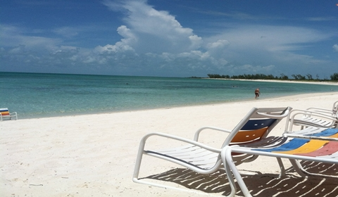 The relaxing, and wonderful adult beach on Castaway Cay.