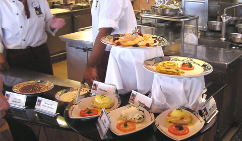 Made-to-order dishes offered at the Palo brunch