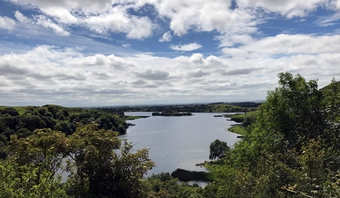 Lough Gur with dramatic cloudscape