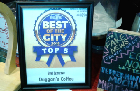 Best of the City 2018, Duggan's Coffee, Albuquerque, New Mexico