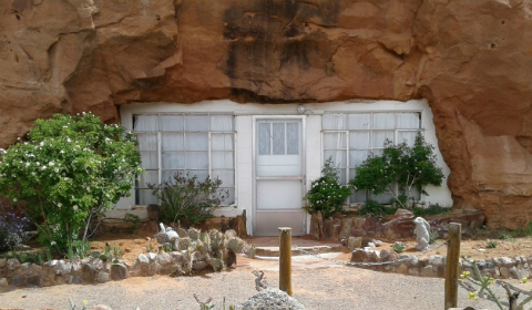 Entrance to the cave home, Hole in the Rock, Utah