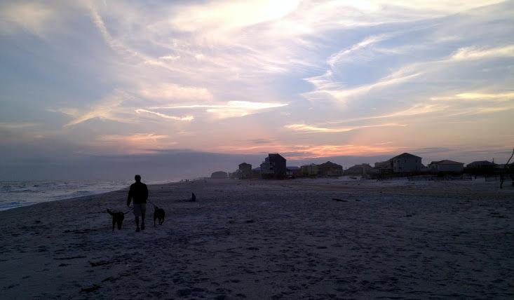 Fort Morgan at sunset