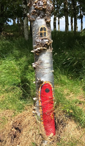 From tiny to large fairy doors–all are present in Lough Gur Fairy Village