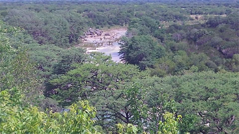 View of the Frio River from the scenic overlook, Garner State Park