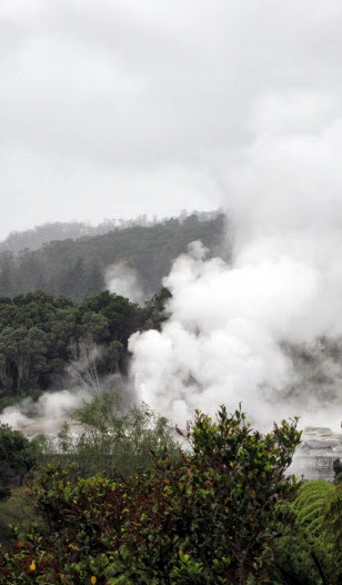Geothermal steam over Rotorua