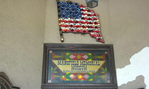Mansfield Memorial Museum, sign at the entrance