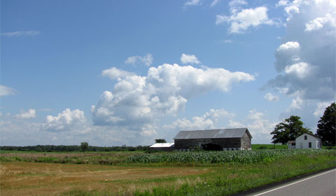 A typical country scene in Ohio