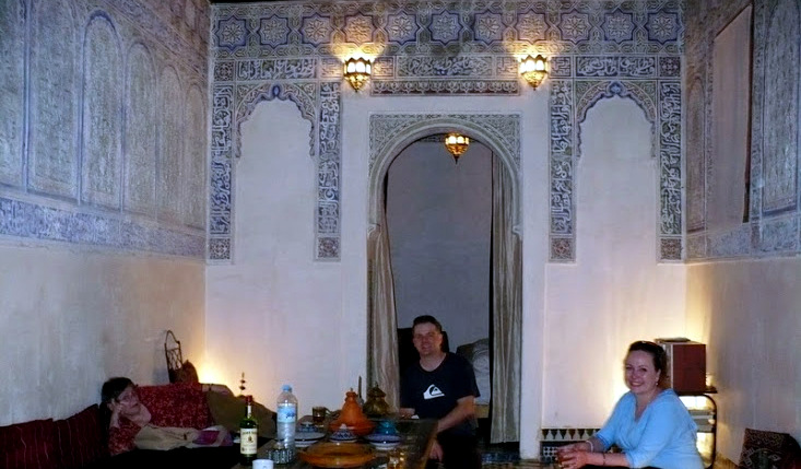 Greg and Marsha's apartment in Fez