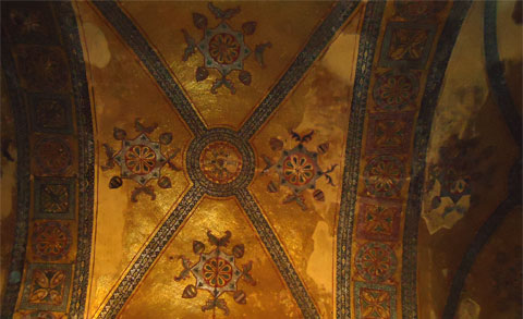 Ceiling detail in the Hagia Sophia