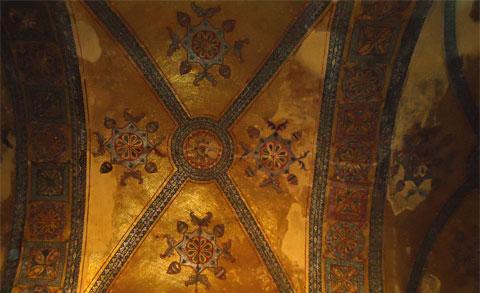 Ceiling detail in the Hagia Sophia