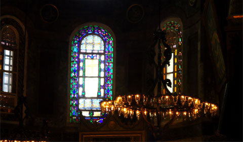 Stained glass window, Hagia Sophia